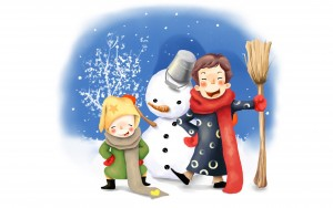 98260_zima_snieg_balwanek_dzieci