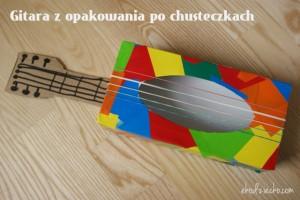 gitara z opakowania po chusteczkach