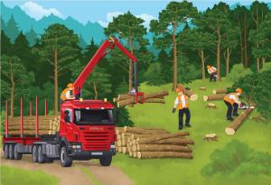 1 - Jak powstaje papier - wycinka drzew