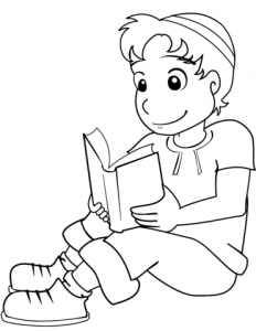 boy-with-kippah-and-book-coloring-page