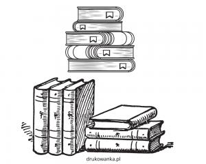kolorowanka książki