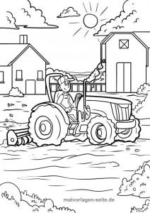 traktor kolorowanka